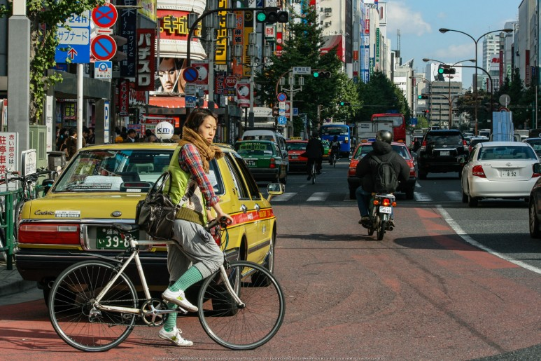 On the streets of Tokyo